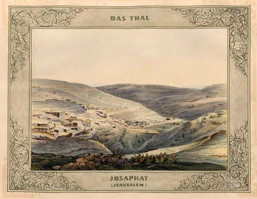 014-El valle de Josafat en Jerusalem-Malerische Ansichten aus dem Orient-1839-1840- Heinrich von Mayr-© Bayerische Staatsbibliothek