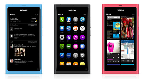 Nokia N9 available in 3 colours, Black, Cyan & Magenta