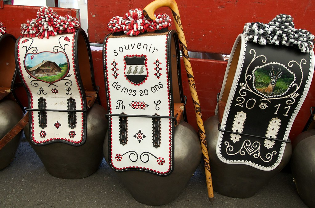 Decorated cowbells