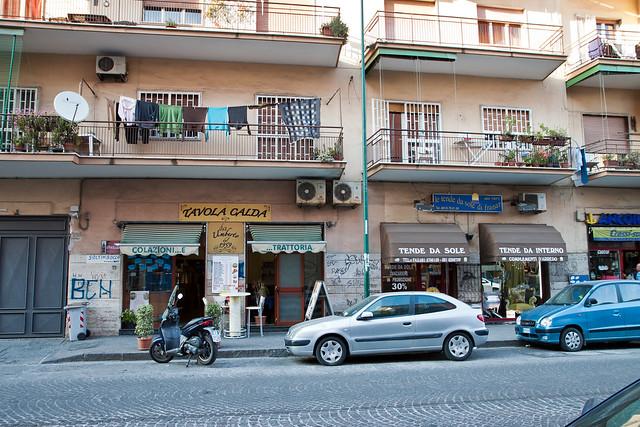 Naples. Bagnoli streets