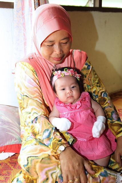 Nureen Tahani with her grandma
