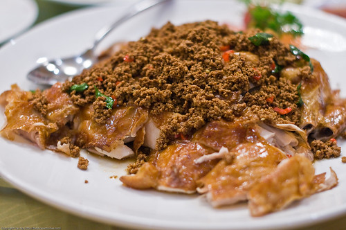 Crispy-skin Chicken with delicious topping