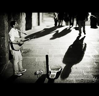 Irish street music
