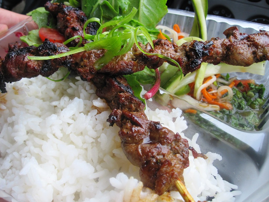 Sok Sab Bai - Lemongrass Beef Skewers