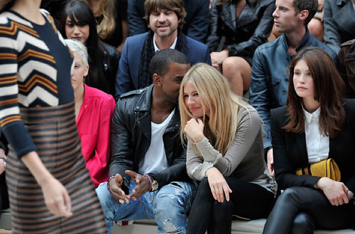 kanye west and sienna miller, burberry, london fashion week, Spring/Summer 2012, Sept 2011