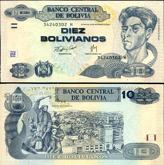 10 Bolivianos Bolívia 2005, Pick 228