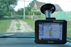 OpenStreetMap in Navitel navigator. Seconds left to destination. The map of Kazeevka, a small Russian village, is very detailed. (Alexander Kachkaev) Tags: russia map navigation navigator  openstreetmap    navital