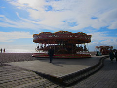 Brighton Beach carrousel (All About Eve) Tags: ocean voyage city trip travel england horse london beach vacances seaside brighton unitedkingdom londres angleterre ville carrousel