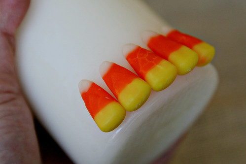 Candy Corn Candle 5