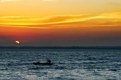 #850C3025- Time to go home (Zoemies...) Tags: ocean sunset beach home nature clouds fisherman time balikpapan melawai zoemies