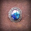 Habonia Gift of Harvest fall festival labradorite set in Hand forged sterling silver .