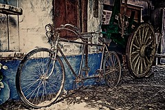 Tandem (Jose Casielles) Tags: de los bicicleta patio carro tandem len casona corral yecla castrillo polvazares bicicletadoble fotografasjcasielles
