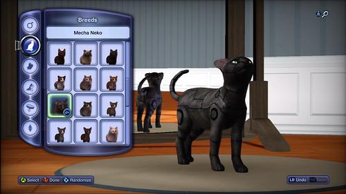 The Sims 3 Pets Mecha Neko