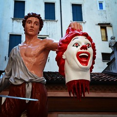 Week 38: Perseus slicing Ronald {explored}