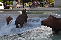 DSC_0234 (terichandler55) Tags: art ford museum mi bears salmon grand rapids gerald r prize fountains 2011