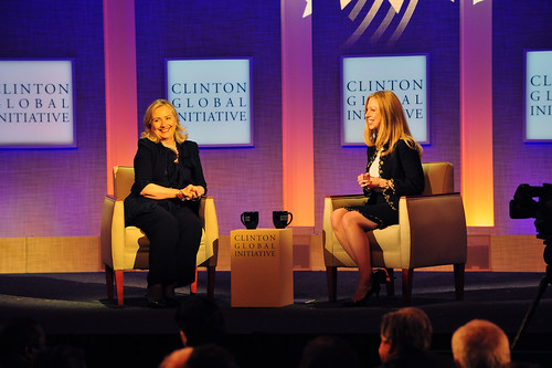 Secretary Clinton and Chelsea Clinton Participate in the Clinton Global Initiative Annual Meeting