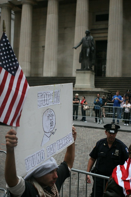 Occupy Wall Street - Day 6 © 2011 Paul Weiskel CC BY 2.0 DOOM! Magazine