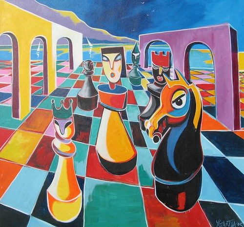 The Wise Queen - Painting - Cubism