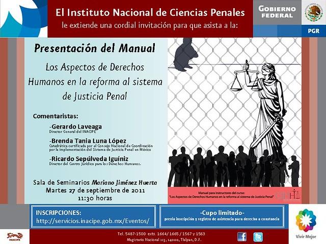 Presentación: Manuel de Los Aspectos de Derechos Humanos en la reforma al sistema de Justicia Penal