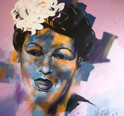 Billy Holiday - Portrait - Original Painting