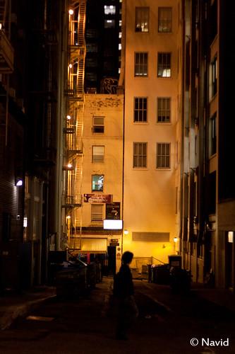 dark street corner