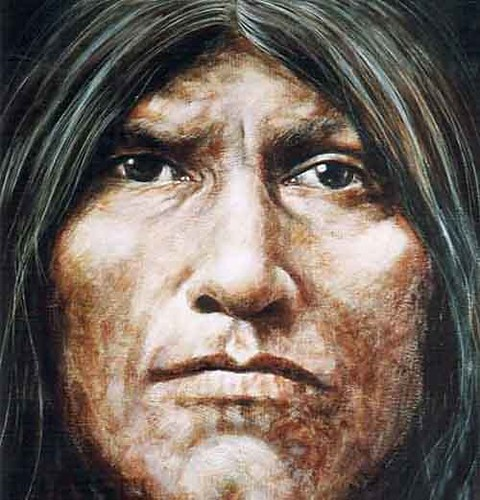 Native Cheyenne - Painting - Realism