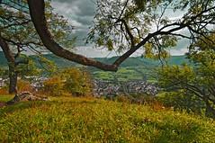 Achalm climbing down - 3a/7 (KF-Photo) Tags: reutlingen achalm abstieg eningen rastplatz idyllischerblick view blick swabianalb schwäbischealb herbst autumn ngc