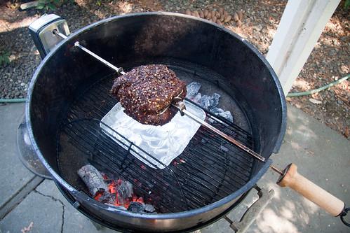 Steak on Rotisserie