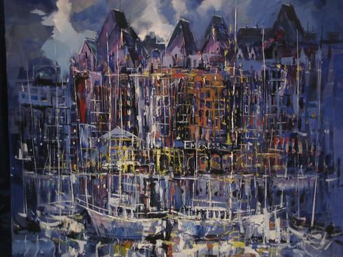Parliament Buildings, Victoria - Painting - Impressionism