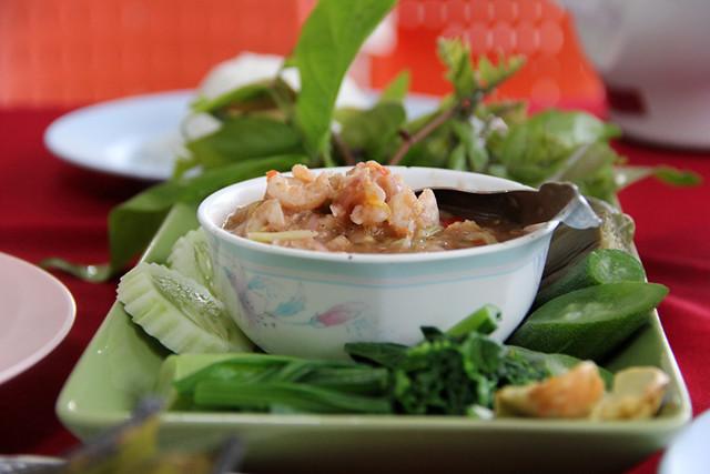Nam Prik Goong Sot นำ้พริกกุ้งสด