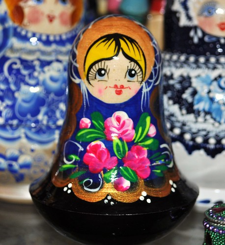 flowers on matroushka