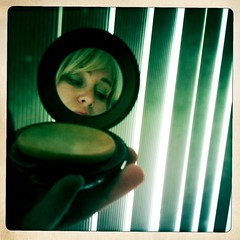 Mirror, Mirror (BLACK EYED SUZY) Tags: woman mirror compact selfshot selfie johnslens hipstamatic inas1969film