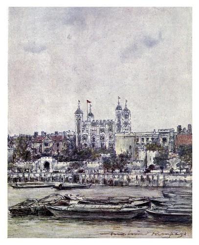 019-La torre San Magnus-The Thames-1906- Mortimer Menpes