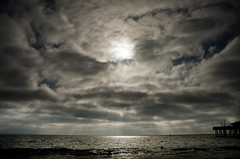 Shady Clouds (Odd.note) Tags: ocean beach clouds pier nikon redondo d7000 18105mmvr