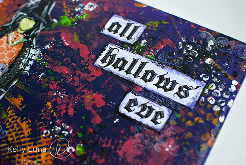 Halloween canvas-words