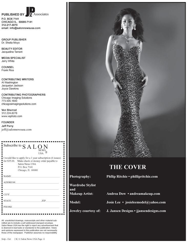 Model: Josie Lee (inside credits for Salon News USA Magazine)