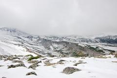 雪景色の赤岳山頂から