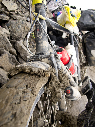Muddy bicycle