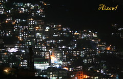 Aizawl City at Night (Monsoon Lover) Tags: india flickr nightshot hilltown aizawl withouttripod mizoram sudipguharay
