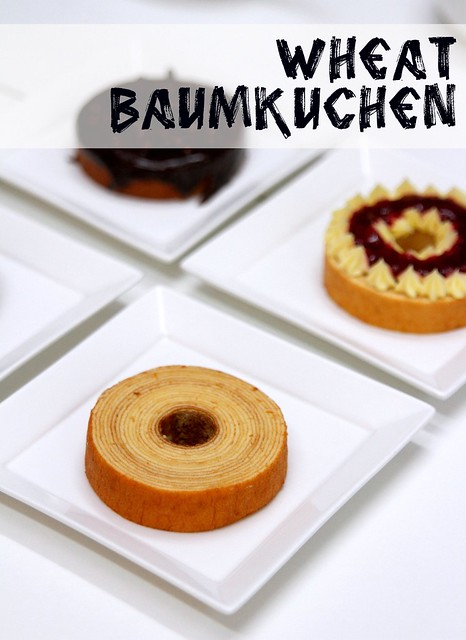 Wheat Baumkuchen: chilled layer cake called baumkuchen