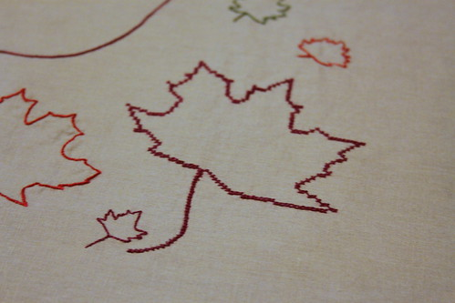 Owl Table Runner Embroidery