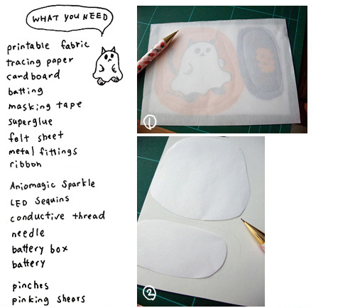 How to make Halloween ghost cat charm 1