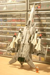 undercarriage. (psiaki) Tags: airplane fighter lego jet 25 soviet mig gurevich
