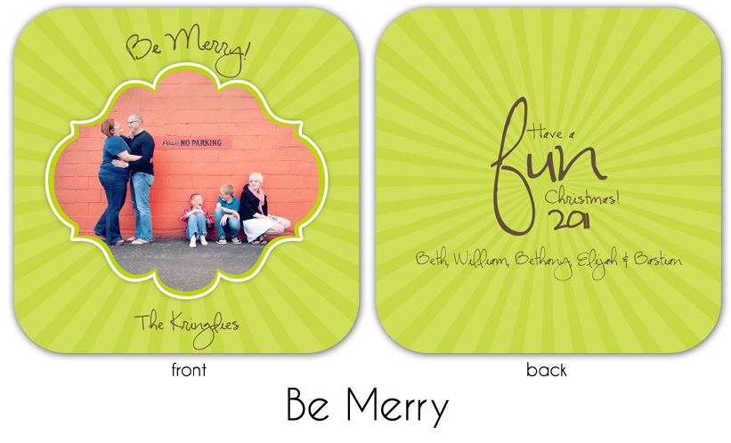 Be Merry square rounded edges