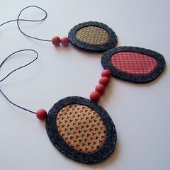 Little Stories - Necklace #23 (moldarina) Tags: necklace natural handmade unique colar woolfelt cottonfabric textilejewellery