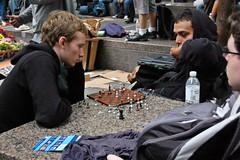 Chess (Mattron) Tags: nyc newyorkcity newyork movement downtown manhattan protest chess financialdistrict gothamist wallstreet lowermanhattan libertyplaza zuccottipark occupywallstreet
