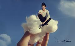 Cloud (RetroMonster) Tags: blue sky people cloud azul vintage nikon hand little cotton cielo campo nube algodon