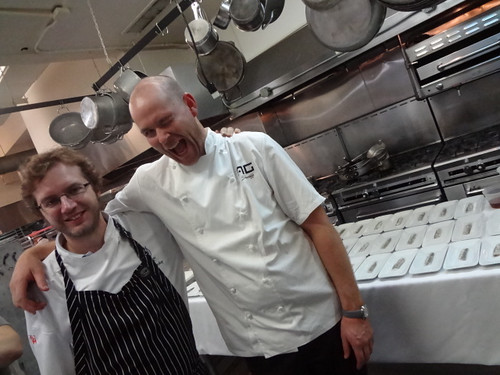 Chef Rafe Peña of Barcelona's Gresca restaurant and Chef Johan Jureskog of Stockholm