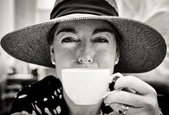 (olivia.boyle) Tags: newyork coffee museum afternoon moma wise sternlook widebrimmedhat summer2011