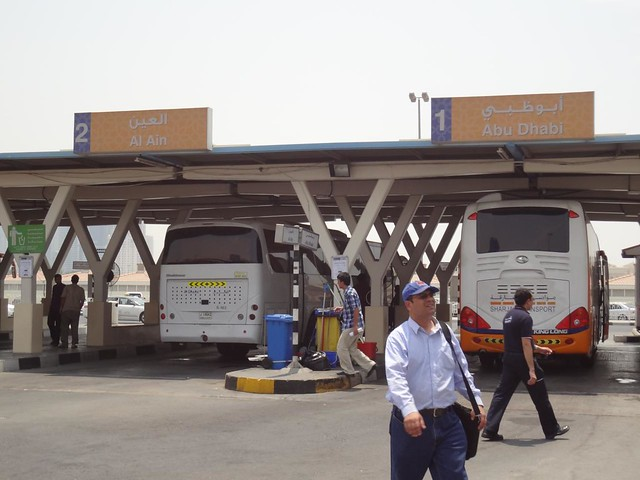 Al Jubail Bus Station in Sharjah UAE